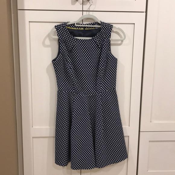 de8a66a3c163 ABS Allen Schwartz Dresses | Navy Blue Polka Dot Dress | Poshmark